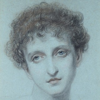 FREDERIC JAMES SHIELDS ARWS (1833-1911) HEAD OF A GIRL