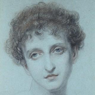 FREDERIC JAMES SHIELDS ARWS (1833-1911) HEAD OF A GIRL