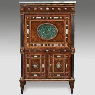 Rare 18th Century North Italian Neoclassical Inlaid Secretaire