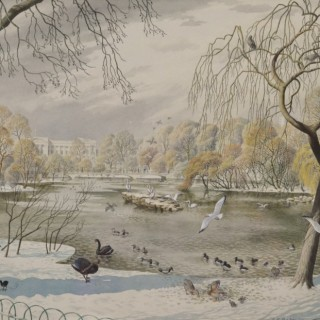 Stanley Roy Badmin, RWS (1906-1989) - Winter, St James's Park, London