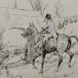 George Denholm Armour, RSA, OBE (1864-1949) - American, Anxiously Addressing a Powerful Jumper...