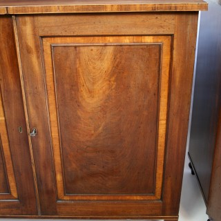 George 111 Mahogany Pair of Cupboards with Fitted Chest Interiors by Gillows