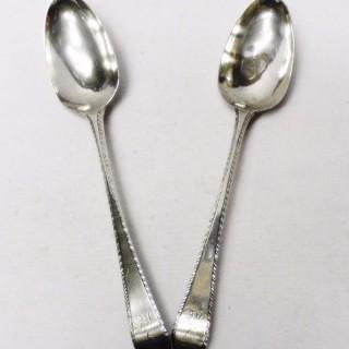 George III Silver Spoons by Hester Bateman