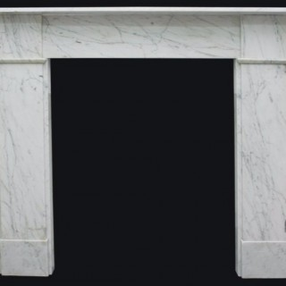 Mid Victorian Carrara marble fireplace surround