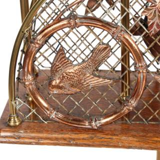 Edwardian Brass Magazine Stand
