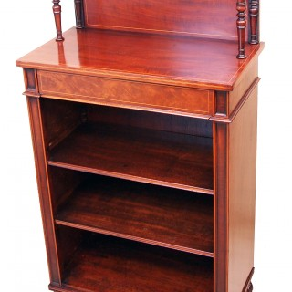Antique Regency Mahogany Open Bookcase