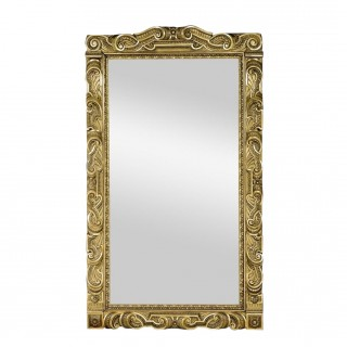 A very large Baroque style richly carved giltwood mirror