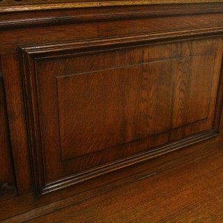 French Carved Oak Hall Bench