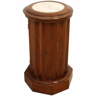 Victorian Cylindrical Mahogany Bedside Locker
