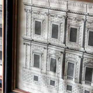 A Decorative Group of Five Illustrations of Country House Architectural Facades; Colen Campbell; 'Vitruvius Britannicus' c.1715 - 1725