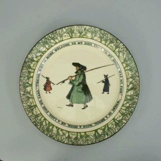 Vintage fishing plate by Royal Doulton.