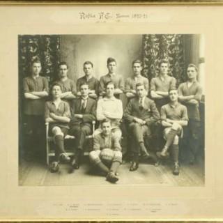 Vintage Football Team Photograph, Roftla F.C.