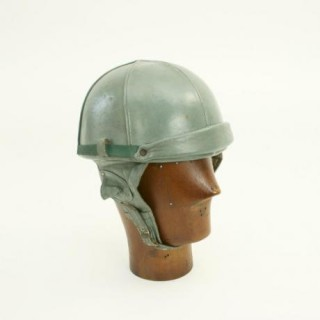 Vintage All Leather Motorcycle Helmet.
