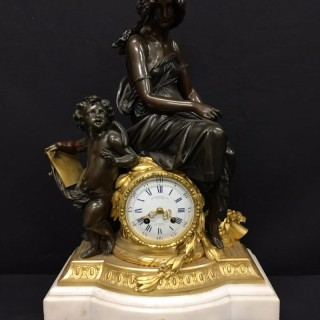 French mantel clock by Charpentier