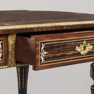 An Antique Louis XVI Centre Writing Table in the Aesthetic Taste