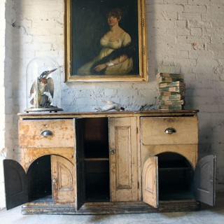 A Wonderful George III Period Painted Dresser Base c.1780-1790