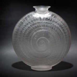 Rene Lalique Glass Vase - 'Escargot' Pattern
