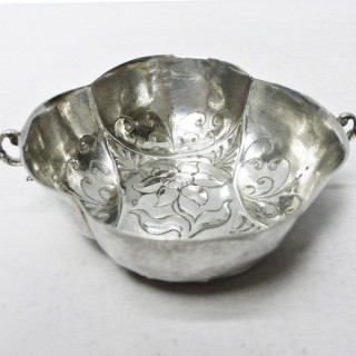 Early Antique Nuremberg Silver Wine Taster