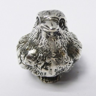 Antique Silver Chick Pin Cushion