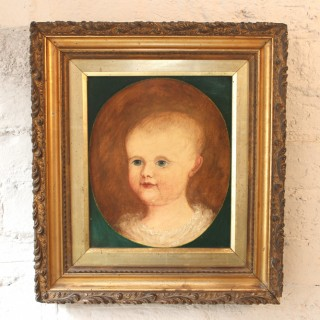 A Fine Early 19thC English Naïve School Portrait of an Infant c.1830