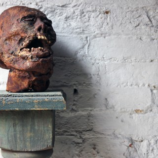 A Superbly Modelled Mummified Head Film Prop by Alan Friswell