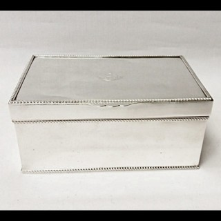 Antique Silver Plated Cigar Box