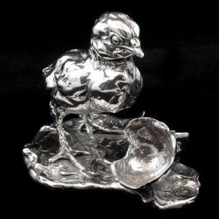 'Chicken & Egg' Sterling Silver Sculpture By Lucy Kinsella