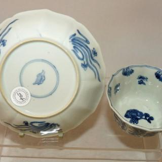 kangxi Blue and White Tea bowl and Saucer