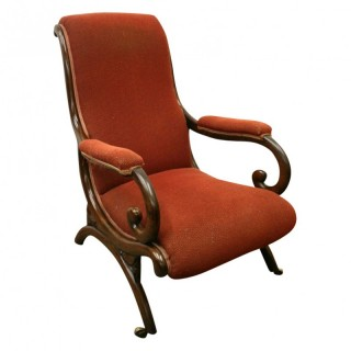William IV Rosewood Easy Chair