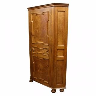 Scottish Oak Corner Wardrobe