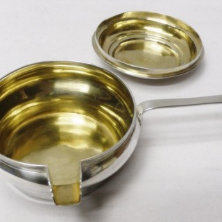 Antique Russian Silver Brandy Sauce Pan