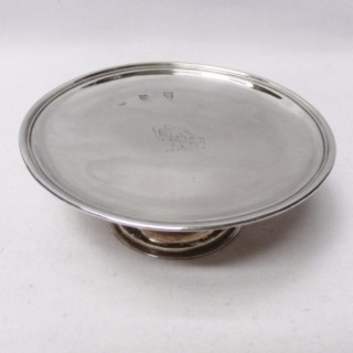 Queen Anne Irish Silver Footed Salver
