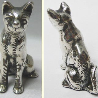 Antique Silver Cat