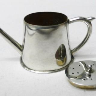 Antique Miniature Silver Teapot Pepper