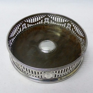 Georgian Silver Wine Coaster by Hester Bateman