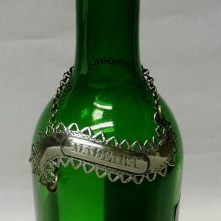Antique George III Silver Wine Label by Hester Bateman