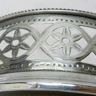 Georgian Silver Wine Coaster