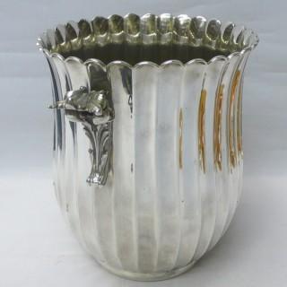 Vintage Italian Silver Wine Bucket – Mid Century