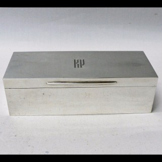 Art Deco Silver Jewellery Box by Asprey