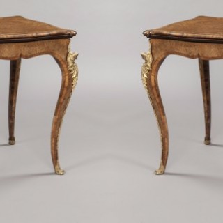 A Near Pair of Antique Card Tables  Firmly Attributed to Gillows of Lancaster
