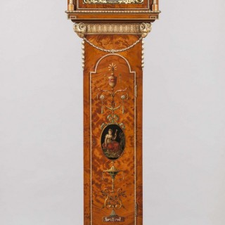 An Antique Long Case Clock by Maple & Company of London in the Adam Manner