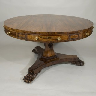 Rare George IV period rosewood loo table