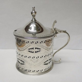 Antique Silver Mustard Pot by Hester Bateman