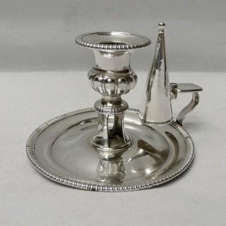 Antique Silver Chamberstick