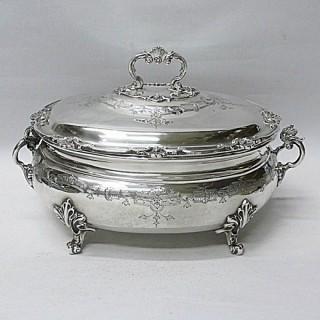 Georgian Style Silver Soup Tureen