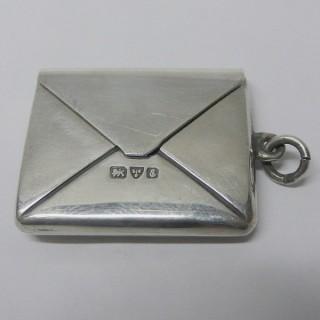 Antique Silver Stamp Case