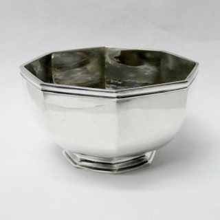 Antique George I Octagonal Silver Sugar Bowl