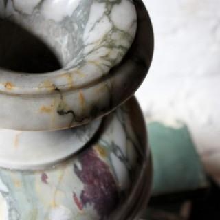 A Very Fine & Large 19thC Italian Neoclassical Carved Brèche Violette de Seravezza Marble Vase c.1830