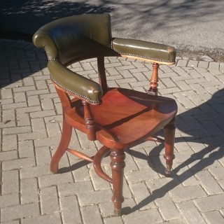 Antique Club Chair / Captains Chair / Desk Chair