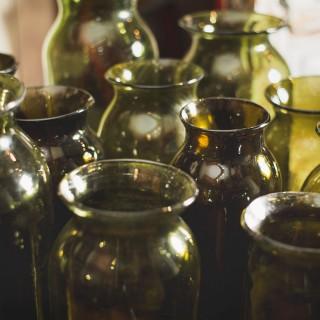 Green Cornichon Jars